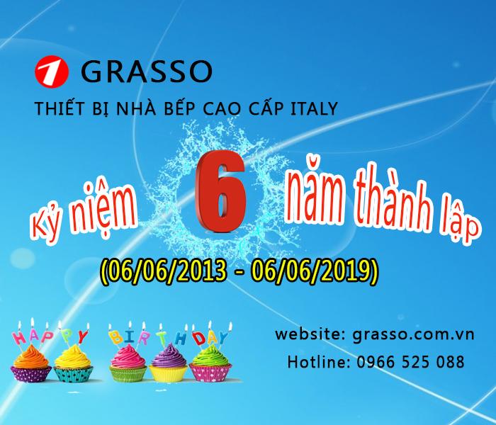 Grasso mừng sinh nhật - kỷ niệm 6 năm thành lập
