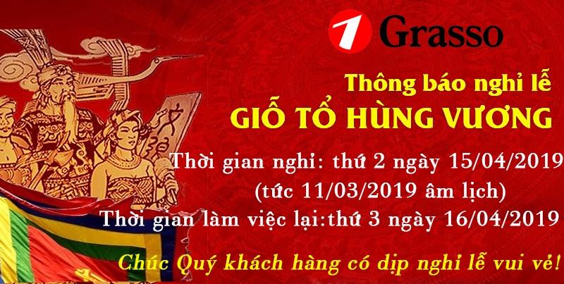 GRASSO thông báo lịch nghỉ lễ giỗ Tổ Hùng Vương